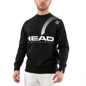 Men's Tennis Shirts and Hoodies Head Rally Sweatshirt  Black 811360 BK