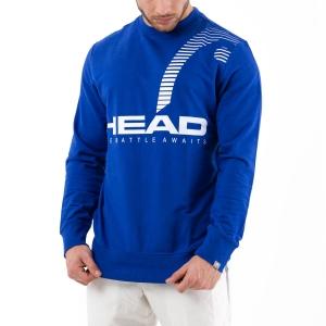 Men's Tennis Shirts and Hoodies Head Rally Sweatshirt  Royal Blue 811360 RO