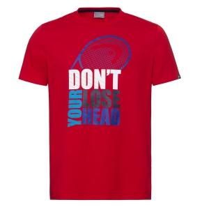 Polo y Camisetas de Tenis Head Return Camiseta Nino  Red 816330 RD