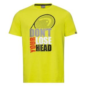Polo y Camisetas de Tenis Head Return Camiseta Nino  Yellow 816330 YW