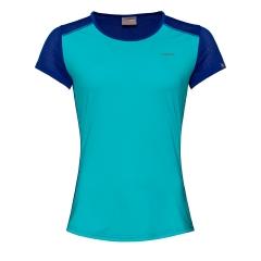 Head Sammy Camiseta Niña - Aqua/Royal Blue