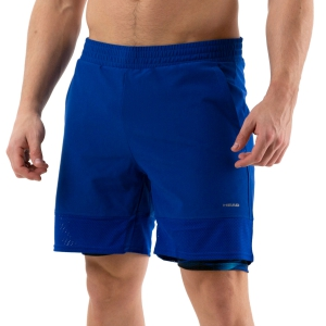 Pantalones Cortos Tenis Hombre Head Slider 2 in 1 7in Shorts  Royal Blue 811250 ROXK