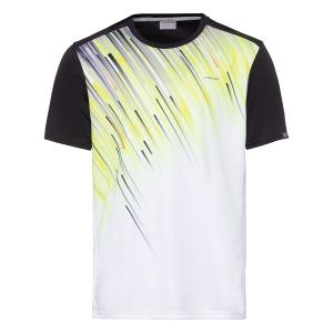 Polo y Camisetas de Tenis Head Slider Camiseta Nino  Black/Yellow 816200 BKYW