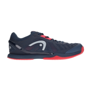 Men`s Tennis Shoes Head Sprint Pro 3.0  Midnight Navy/Neon Red 273000 MNNR
