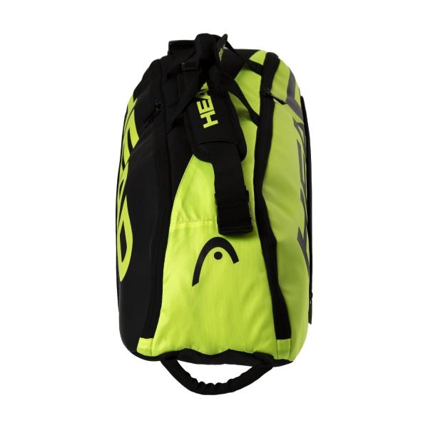 Head Tour Team Extreme x 6 Combi Bag - Black/Neon Yellow