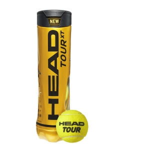 Pelotas Tenis Head Head Tour XT  Tubo de 4 pelotas 570824