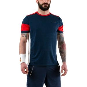 Men's Tennis Shirts Head Volley TShirt  Dark Blue/Red Dark 811330 DBRD