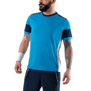 Maglietta Tennis Uomo Head Volley Maglietta  Electric Blue/Dark Blue 811330 ELDB