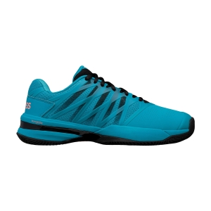 Men`s Tennis Shoes KSwiss Ultrashot 2 Clay  Algiers Blue/Black/Soft Neon Orange 06169476M