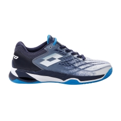 Lotto Mirage 100 Clay - All White/Diva Blue/Navy Blue