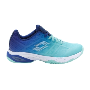 Women`s Tennis Shoes Lotto Mirage 300 II Clay  Green Cabbage/All White/Sodalite Blue 2136355YH