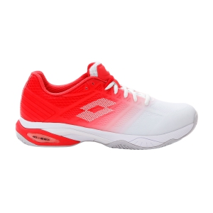 Men`s Tennis Shoes Lotto Mirage 300 II Clay  All White/Red/Poppy 21362868M