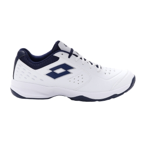 Men`s Tennis Shoes Lotto Space 600 II All Round  All White/Navy Blue 2136301E6