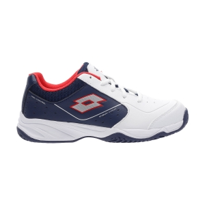 Scarpe Tennis Junior Lotto Space 600 II All Round Bambini  All White/Silver Metal/Navy Blue 2136391KH