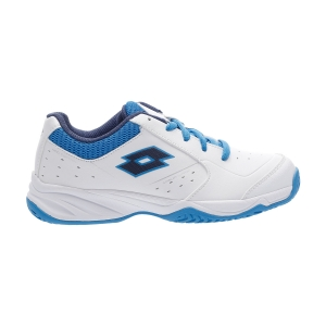Scarpe Tennis Junior Lotto Space 600 II All Round Bambini  All White/Navy Blue/Diva Blue 2136395ZF