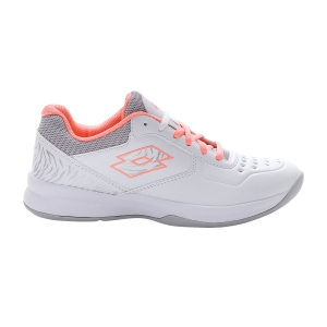 Women`s Tennis Shoes Lotto Space 600 II All Round  All White/Sweet Rose/Silver Metal 2136375Y1