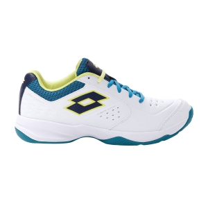 Men`s Tennis Shoes Lotto Space 600 II All Round  All White/Navy Blue/Mosaic Blue 2136305XX