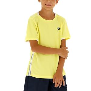 Tennis Polo and Shirts Lotto Tennis Teams TShirt Boy  Lime Light 2103813DH