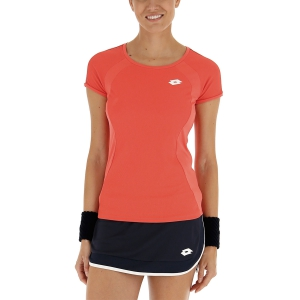 Women`s Tennis T-Shirts and Polos Lotto Teams TShirt  Red Fluo 2103934M6