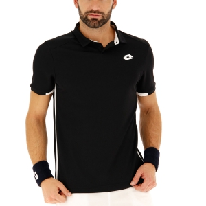 Men's Tennis Polo Lotto Teams Polo  All Black/Brilliant White 2103761CF