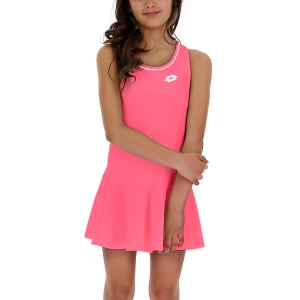 Tennis Dress Girl Lotto Teams Dress Girl  Red Fluo 2104014M6