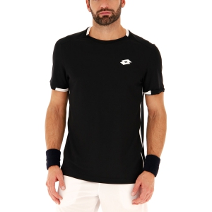 Men's Tennis Shirts Lotto Tennis Teams TShirt  All Black/Brilliant White 2103751CF