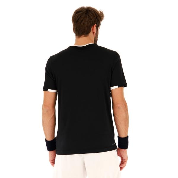 Lotto Tennis Teams Camiseta - All Black/Brilliant White