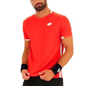 Men's Tennis Shirts Lotto Tennis Teams TShirt  Red Poppy 2103751OS