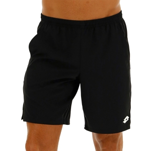 Men's Tennis Shorts Lotto Top Ten II 9in Shorts  All Black 2140101CL