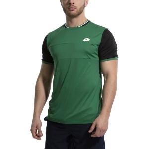 Camisetas de Tenis Hombre Lotto Top Ten II Block Camiseta  Garden/All Black 2128205PH