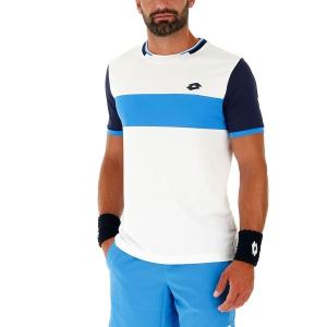 Men's Tennis Shirts Lotto Top Ten II Block TShirt  Bright White/Navy Blue 2128201Q5