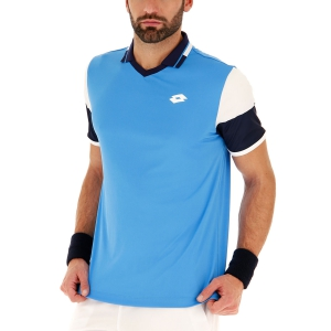 Men's Tennis Polo Lotto Top Ten II Block Polo  Diva Blue/Navy Blue 2128235PD