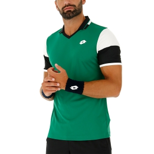 Men's Tennis Polo Lotto Top Ten II Block Polo  Garden/All Black 2128235PH