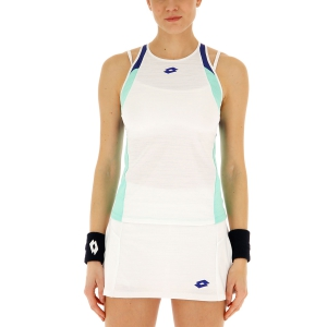 Women`s Tennis Tanks Lotto Top Ten II Tank  Bright White/Green Cabbage 2128305PC