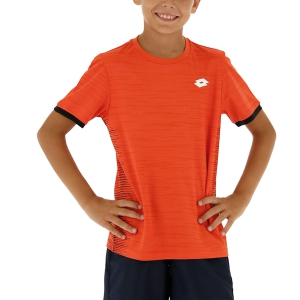Tennis Polo and Shirts Lotto Top Ten II TShirt Boy  Red Poppy 2131101OS