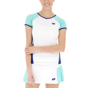 Women`s Tennis T-Shirts and Polos Lotto Top Ten II TShirt  Bright White/Sodalite Blue 2128323ZM