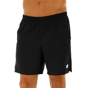 Pantalones Cortos Tenis Hombre Lotto Top Ten II 7in Shorts  All Black 2128251CL