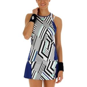 Top de Tenis Mujer Lotto Top Ten II Print Top  Bright White/Sodalite Blue 2128313ZM