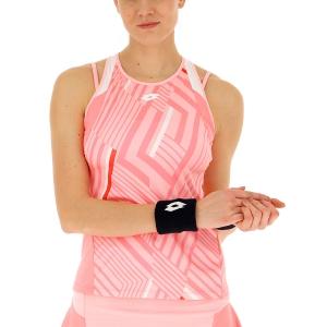 Women`s Tennis Tanks Lotto Top Ten II Print Tank  Sweet Rose/Vivid Rose 2128315PB