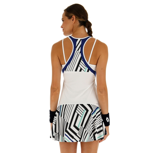 Lotto Top Ten II Print Vestido - Bright White/Sodalite Blue