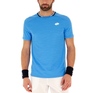 Camisetas de Tenis Hombre Lotto Top Ten Camiseta  Diva Blue 2128195P1