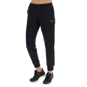 Women's Tennis Pants and Tights Lotto Venezia Rib Fleece Pants  All Black 2118051CL