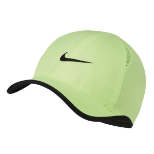 Tennis Hats and Visors Nike Aerobill Featherlight Cap  Ghost Green/Black 679421358