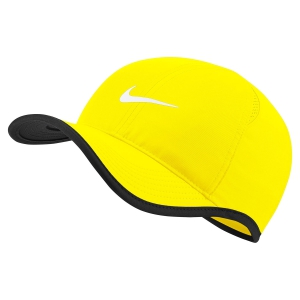 Tennis Hats and Visors Nike Aerobill Featherlight Cap  Opti Yellow/Black/White 679421731