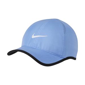 Tennis Hats and Visors Nike Aerobill Featherlight Cap  Royal Pulse/White 679421478