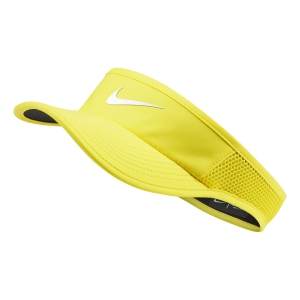Tennis Hats and Visors Nike Aerobill Featherlight Visor  Opti Yellow/White 899656731