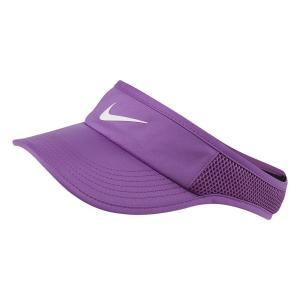 Tennis Hats and Visors Nike Aerobill Featherlight Visor  Purple/Nebula White 899656532