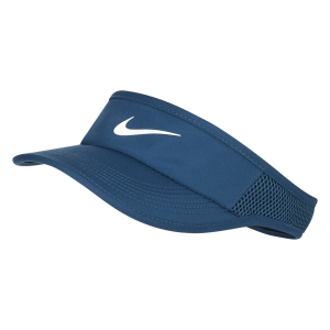 Tennis Hats and Visors Nike Aerobill Featherlight Visor  Valerian Blue 899656432