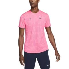 Nike Aeroreact Rafa T-Shirt - Digital Pink/Gridiron