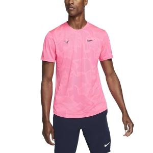 Camisetas de Tenis Hombre Nike Aeroreact Rafa Camiseta  Digital Pink/Gridiron CU7916679